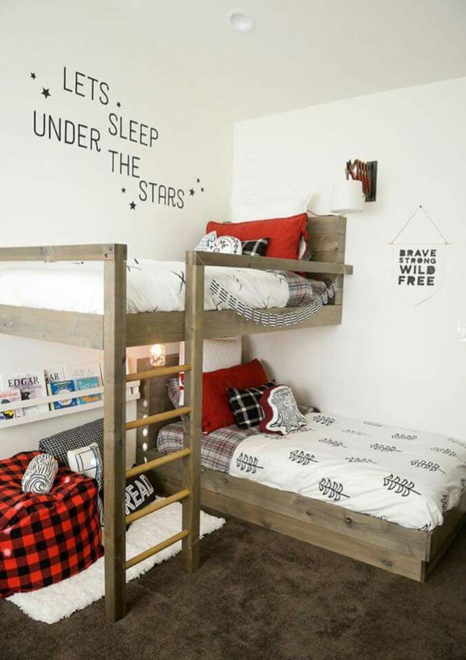 Perfect idea for a small bedroom | kid rooms | Pinterest | Bedrooms ...