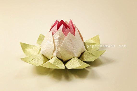 Modular Origami Lotus Flower   Video Tutorial