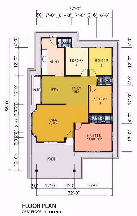 Plan Rumah 5 Bilik Desainrumahid Com