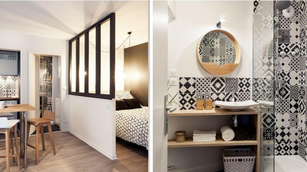 Renovation Complete D Un 30m2 Dans Un Style Scandinave Amenagement Petit Appartement Renovation Appartement Amenagement Appartement