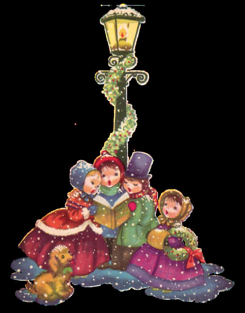 Vintage Christmas Carolers png clip art big 800x1020 | Clip Art ...