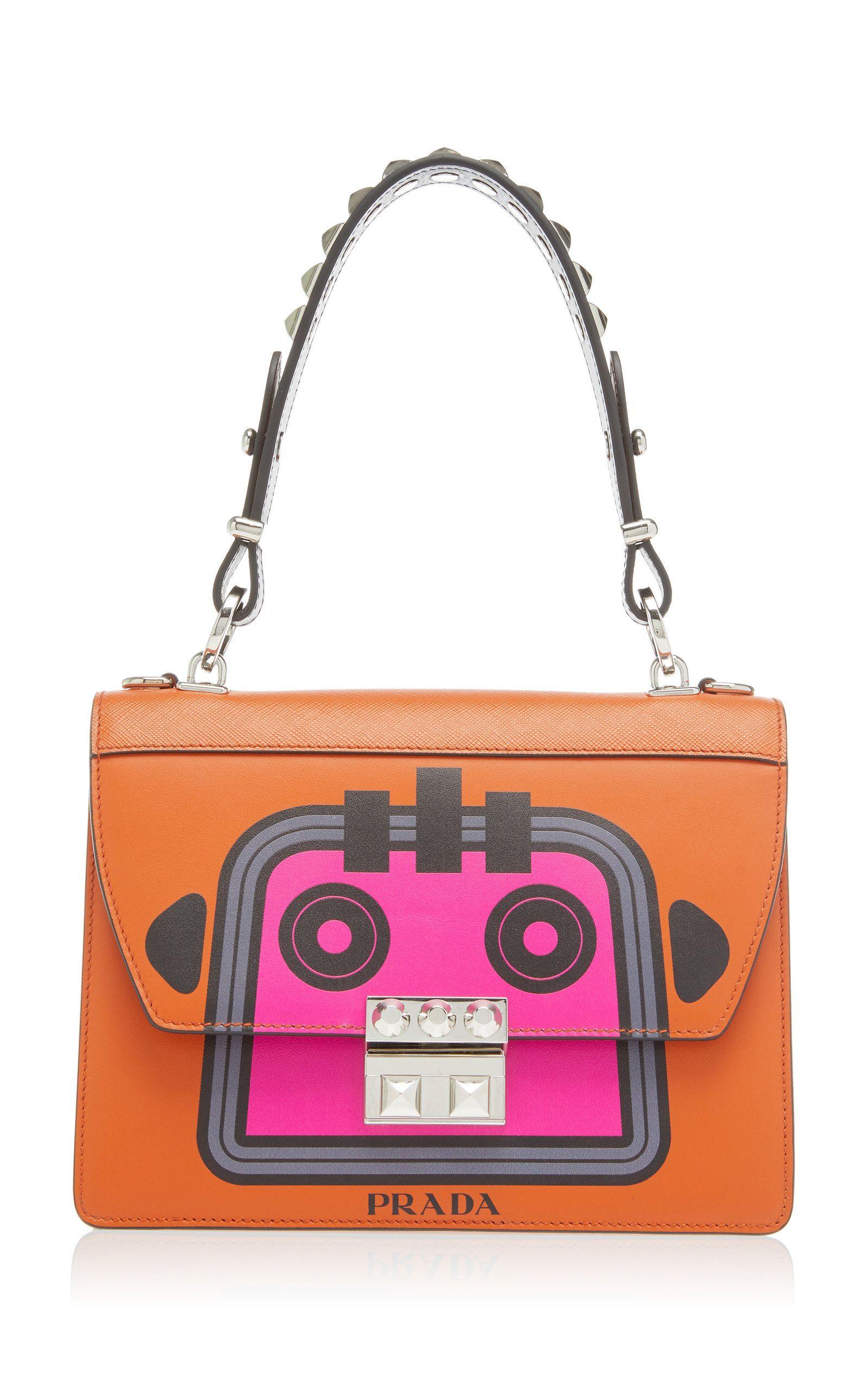 0b09b7d0a6c Prada City Calf And Saffiano Bag With Robot