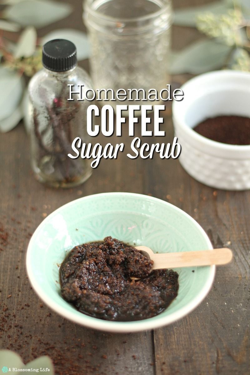 Not only does this homemade coffee sugar scrub smell like