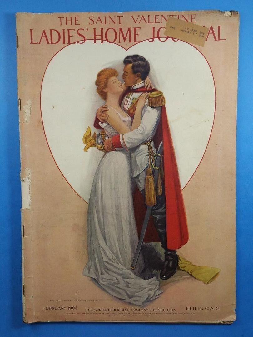 Vintage Ladies Home Journal February 1908 The Saint Valentine 1835069453 Magazine Illustration Vintage Ladies History Magazine