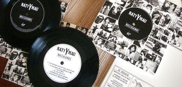 Invita con un disco de vinilo... Personalizado y original!