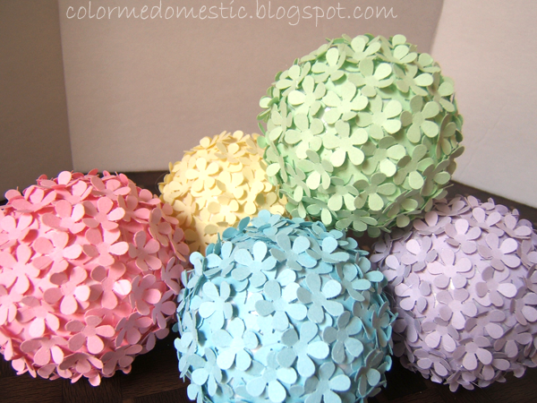 Paper Decoration Balls Gorgeous Color Me Domestic Paper Punched Flower Balls  Craft Ideas Inspiration