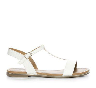 0b37a98031fd Din Sko Sandaler Sandal Skinnimitation Vit