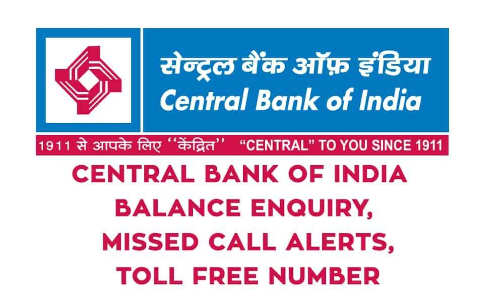 central bank of india ka balance check number