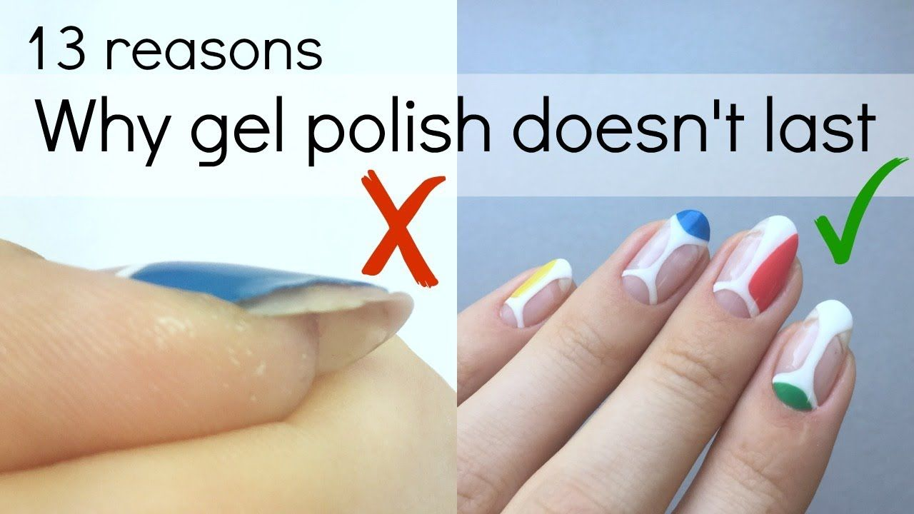 How To Make Your Gel Polish Manicure Last Longer No More Peeling Or Chipping Youtube Gel Nail Tips Gel Polish Manicure Gel Polish