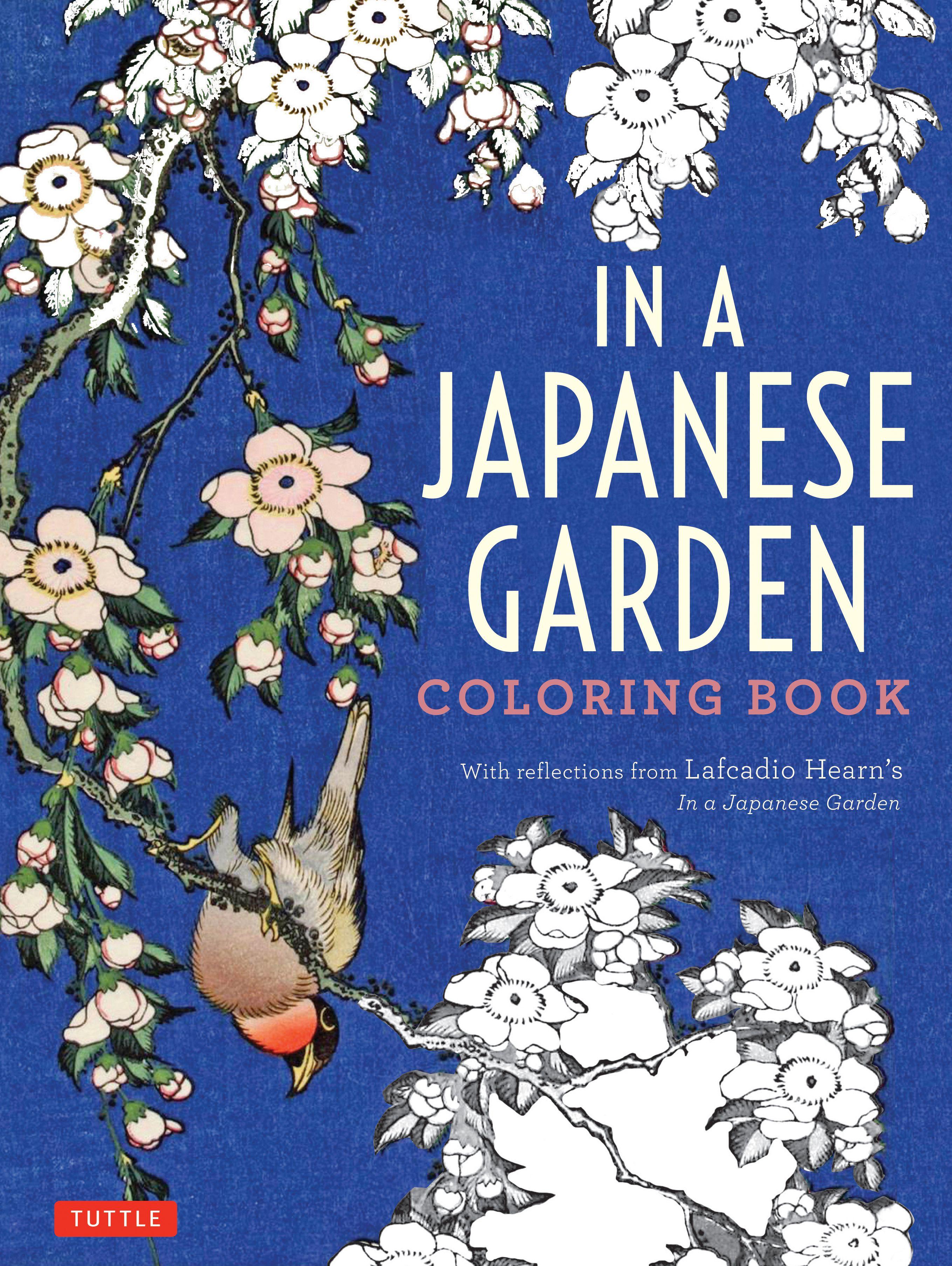 In A Japanese Garden Coloring Book Coloring Books Japanese Garden Gardens Coloring Book