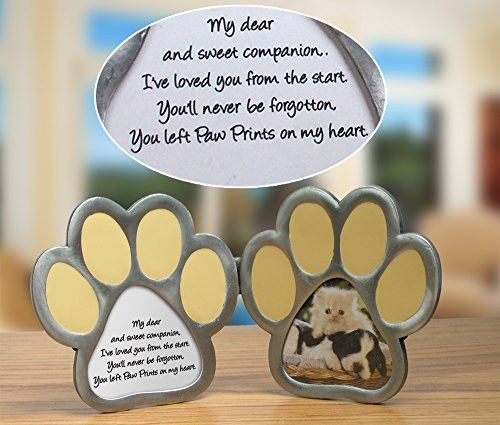 Paw Prints on My Heart Double Picture Frame | Double picture, Poem ...