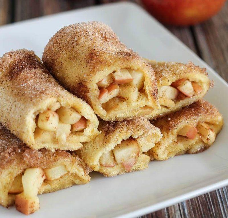 Rollitos de manzana y canela al horno