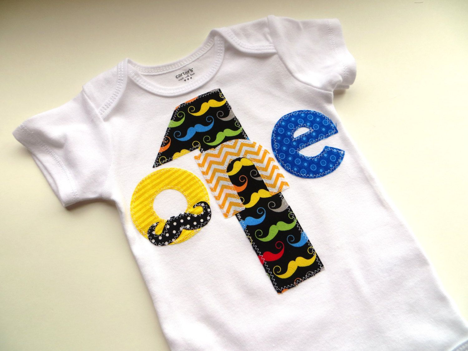Mustache Hipster First Birthday Shirt funny trendy photo prop one birthday. $19.95, via Etsy.