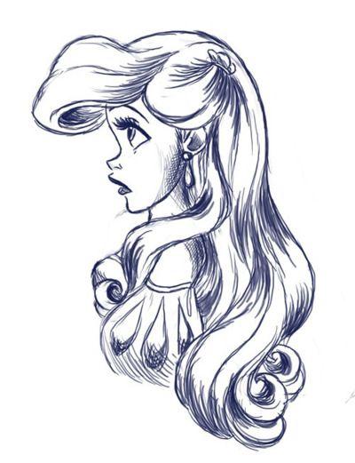 Ariel the little mermaid sketch pretty