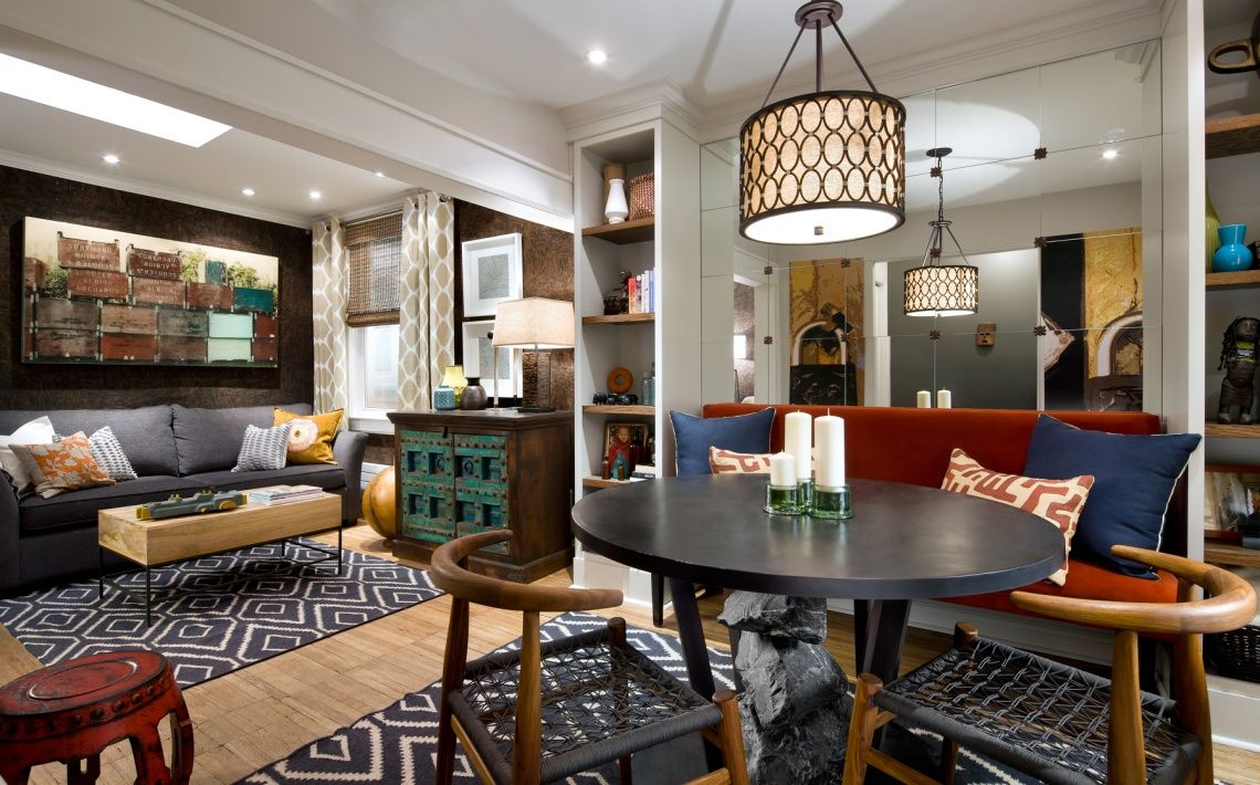 Candice Olson design: A living room and dining room combo ...