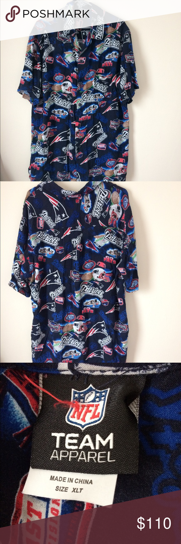 9128322cc4d Men's NE patriots Hawaiian style shirt Men's New England Patriots Hawaiian  style shirt. I believe it's vintage. In amazing preowned condition. Size XL  tall.