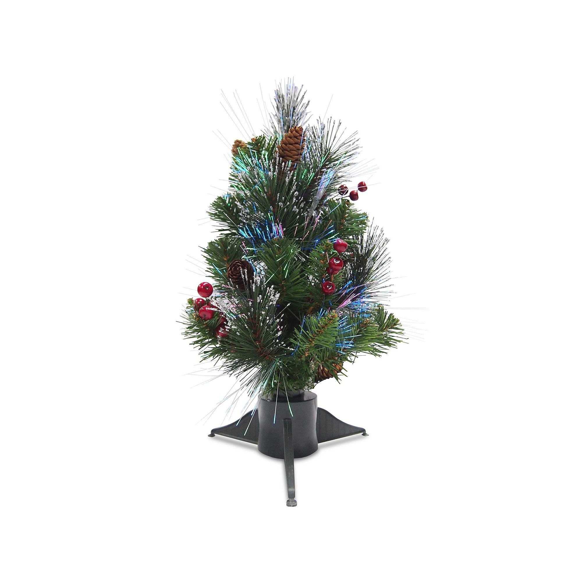 1bf16d4ea7f4 National Tree Company 18-in. Fiber Optic Artificial Ice Crestwood Christmas  Tree