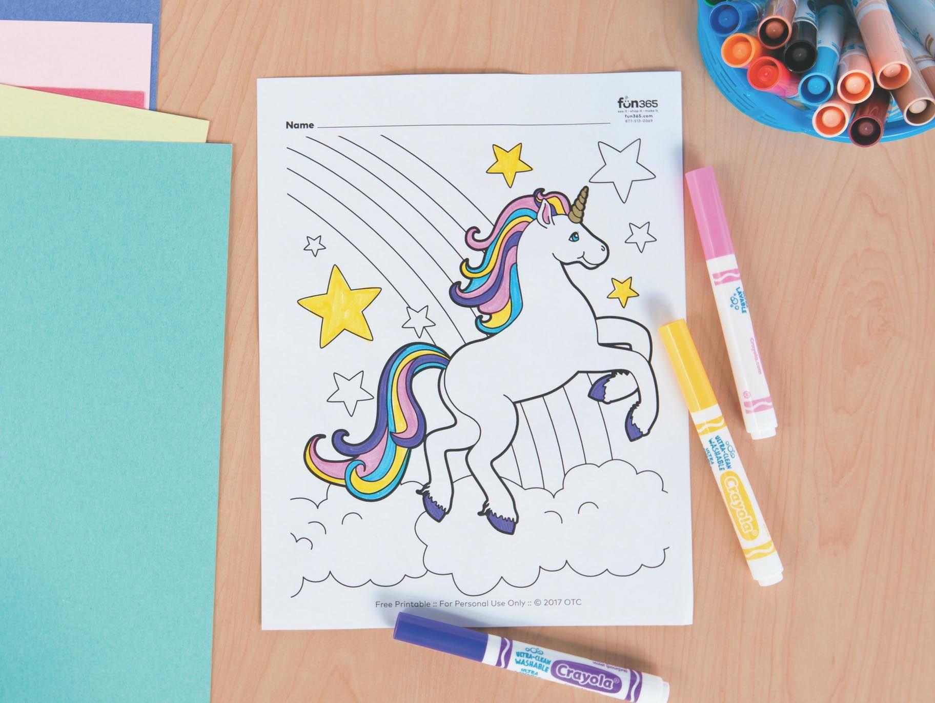 Unicorn Free Printable Coloring Page   Unicorn coloring ...