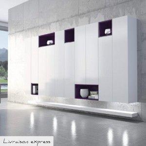 meuble de rangement salon salle manger design et chic blanc made in - Meuble De Rangement Salle A Manger
