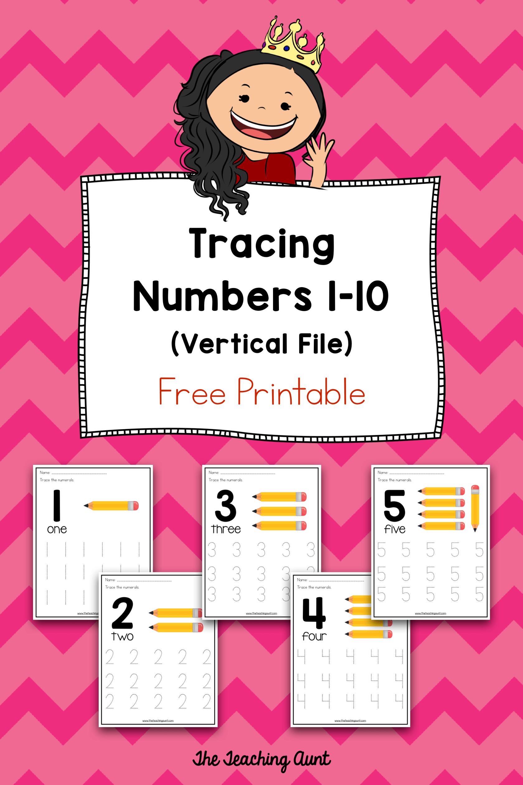 Number Tracing Worksheets For Preschoolers
