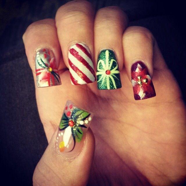 Merry Christmas Nails Designs Pinterest