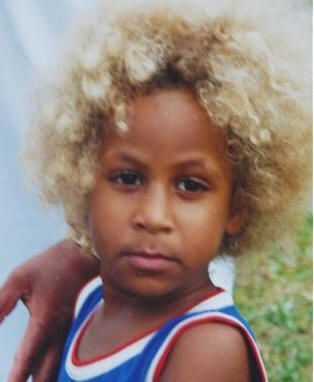 Melanesian Blonde Fijian Boy Photographed In A Fairly Remote