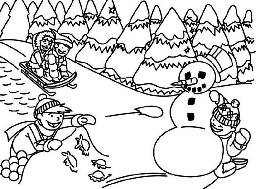 Printable Winter Coloring Pages Winter Coloring Pages Cindamycaz ...