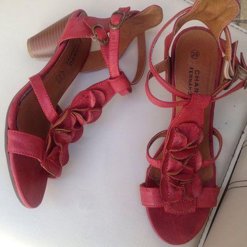 Sandalias de Piel Charo Fernandez - Chicfy