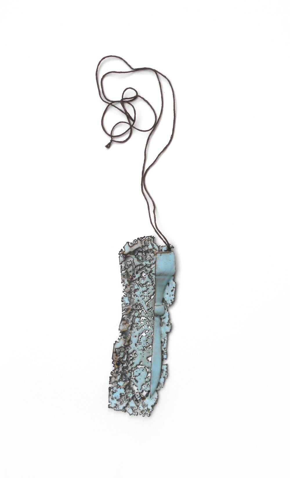copper, enamel, thread  2013 amanda packer