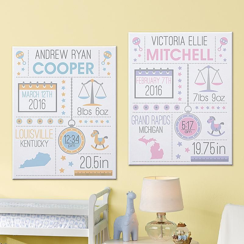 Hello baby canvas pinterest baby canvas and babies send hello baby canvas and other personalized gifts at personal creations negle Choice Image