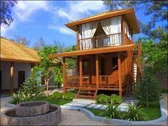 desain rumah kayu minimalis klasik dan sederhana