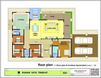 Rumah Teres Setingkat 4bilik Google Search Floor Plans Craftsman Floor Plans House Plans