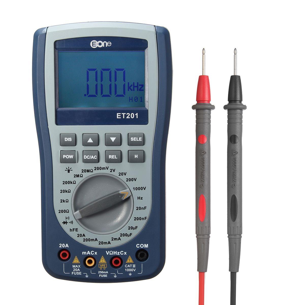 Eone Et201 2 In 1 Digital Intelligent Handheld Storage Oscilloscope Adapter Multimeter Ac Dc Current Voltage