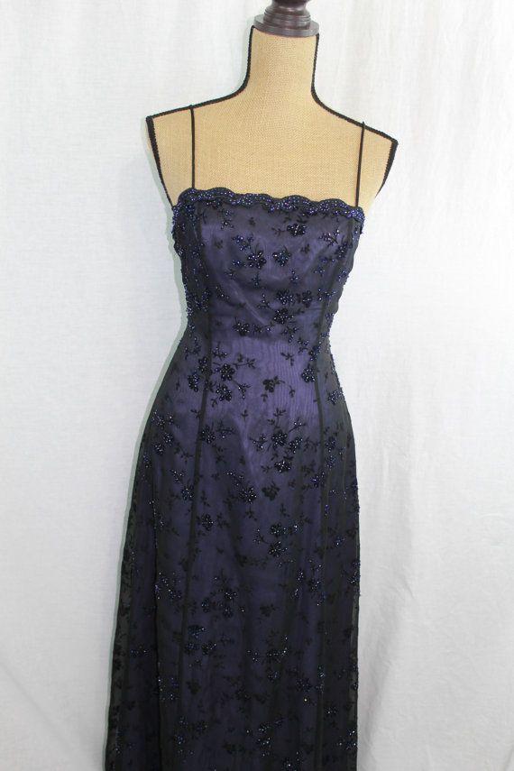 Prom Dress / 90s Prom Dress / 90s Evening by SammysChifforobe, $35.00