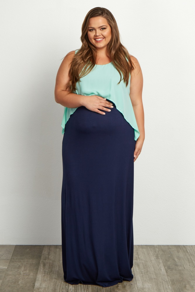 d01098adc65 Mint-Green-Overlay-Plus-Size-Maxi-DressThe perfect plus maternity