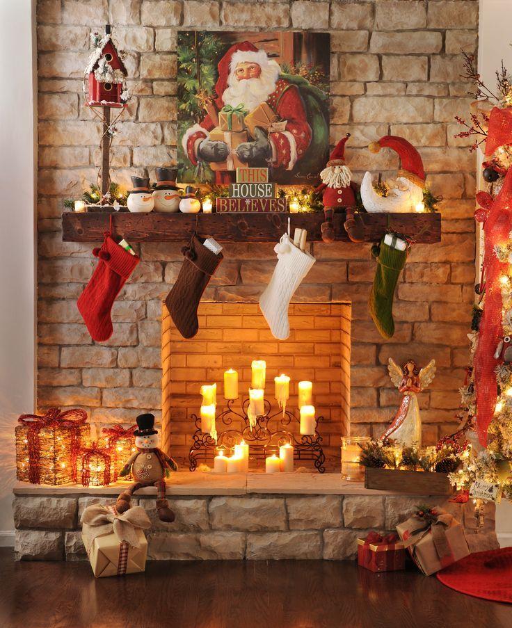 Fireplace Ideas For Christmas: Karácsonyi Kandalló Dekoráció