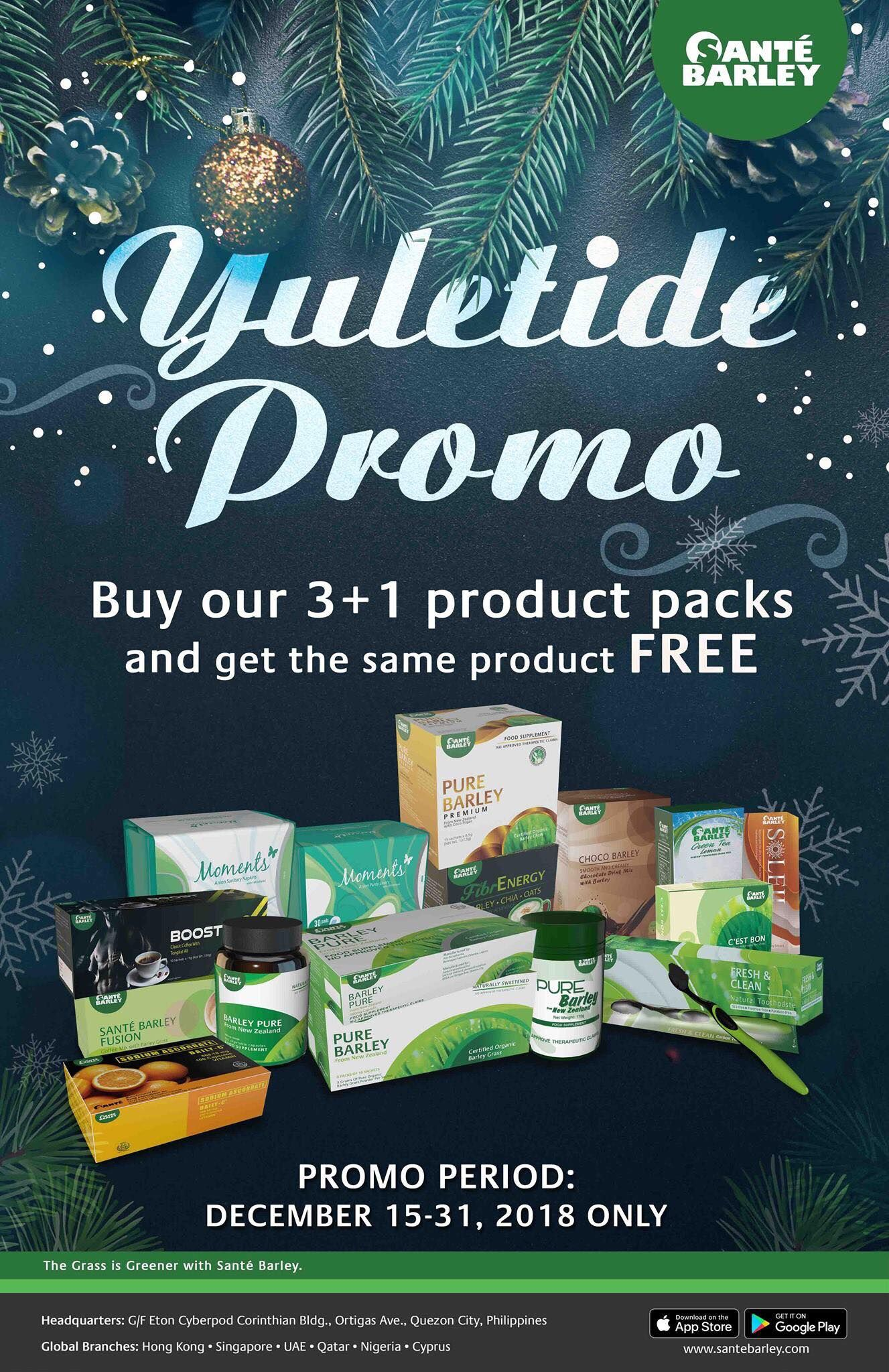 Sante Barley Global Yuletide Promo Yuletide, Barley