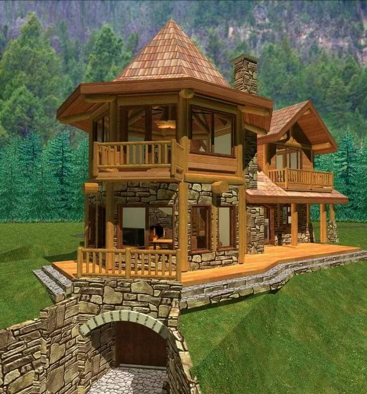 This Is The One I Want Log Homes Small Log Cabin Small House