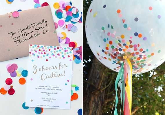 Confetti 3rd birthday from CAKE.   100 Layer Cakelet. #laylagrayce #confetti #entertaining