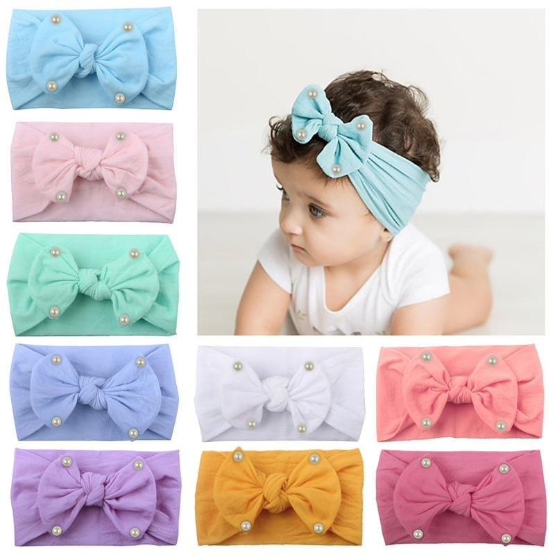 1PC Newborn Toddler Baby Girls Bow Turban Headband Headwear Accessories