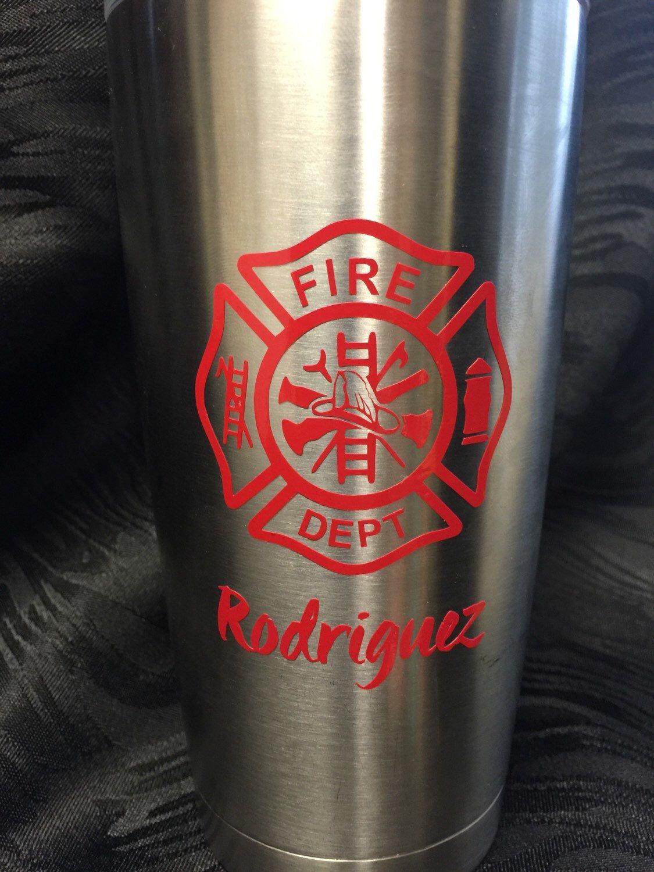 Decal For Yeti Fire Dept Decal Fire Dept Fire Department - Custom car window decals metal