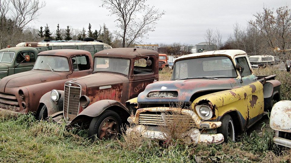 Where Old Canadian Trucks Go To Die Vintage Trucks Classic Chevy Trucks Junkyard Cars