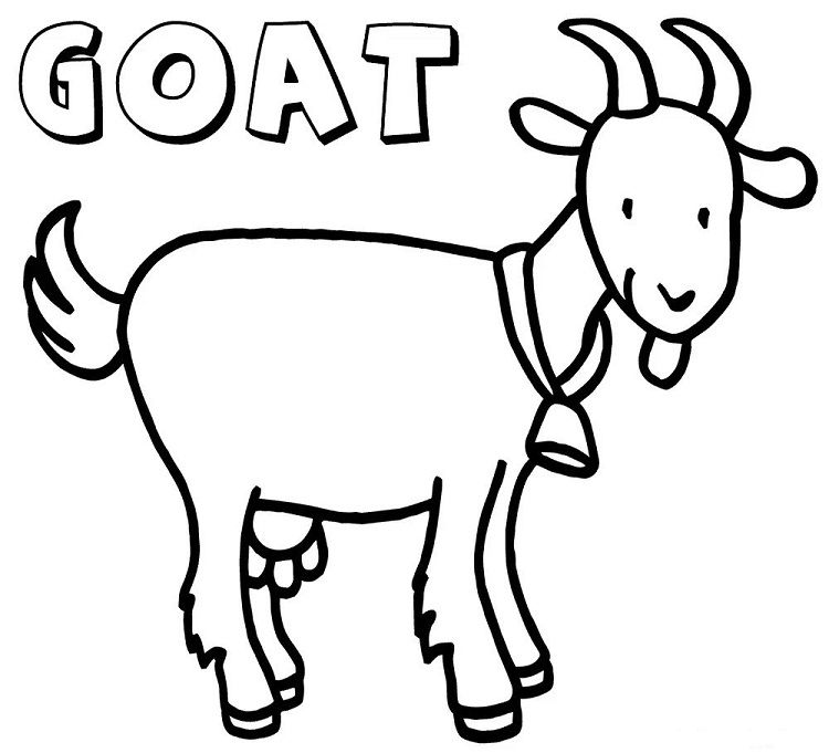 Goat Coloring Pages For Kids Check More At Http Coloringareas Com 5757 Goat Coloring Pages For Coloring Pages For Kids Coloring Pages Cartoon Coloring Pages