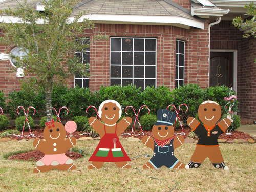 Gingerbread Man Christmas Yard Decoration Updated Christmas Yard Decorations Christmas Yard Art Outdoor Christmas Decorations