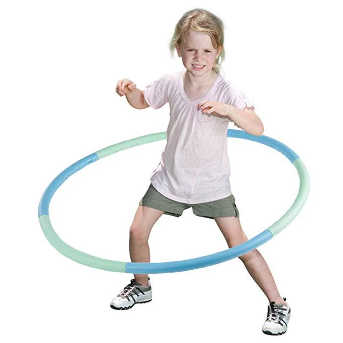 Amazon Com Venseen Hula Hoop For Kids Detachable Adjustable Weight Size Plastic Kid Hoola Hoop Suitable As Toy Gifts Hul Hoop Games Adjustable Weights Kids