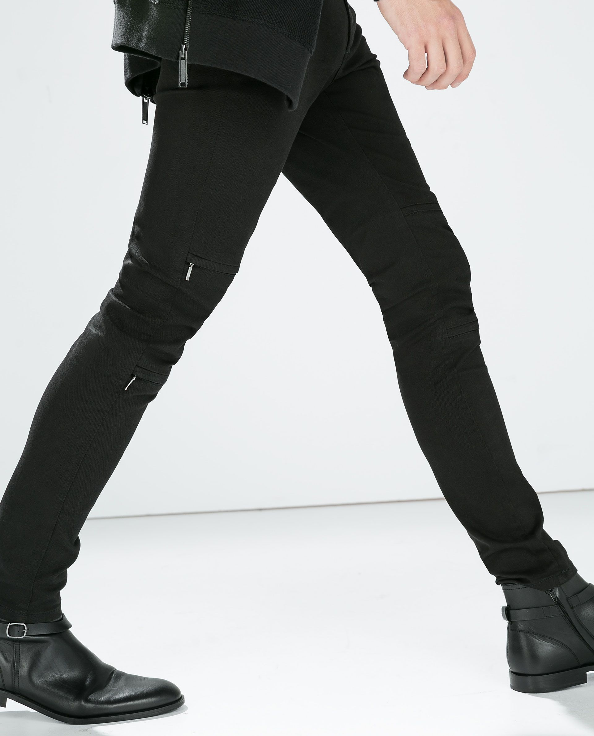 SKINNY TROUSERS WITH ZIPS - Jeans - MAN | ZARA Germany