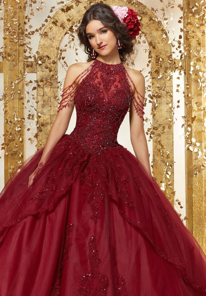 0847d388e01 Crystal Beaded Embroidery on a Princess Tulle Ballgown  89227  morilee   quinceaneradress2018  quinceaneramall