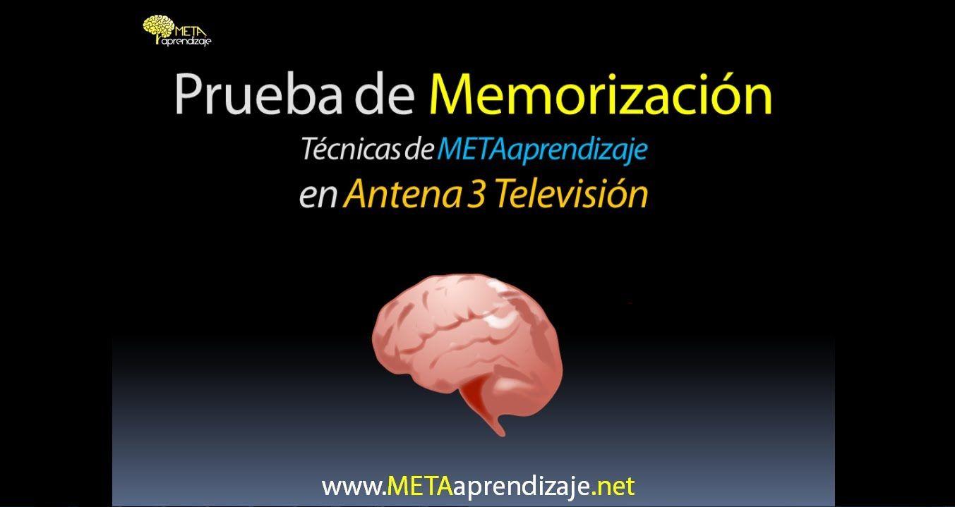 Prueba de memorizacion. Los Increibles Antena 3. Tutti Fruti.