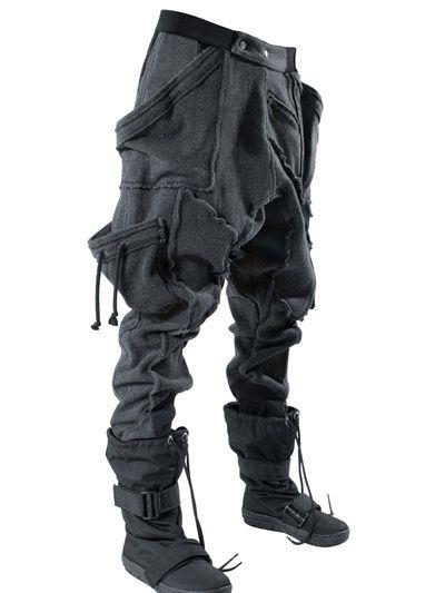 El SteampunkRopa Pantalones Largo Pantalon GrisCyberpunk uT35K1lJcF