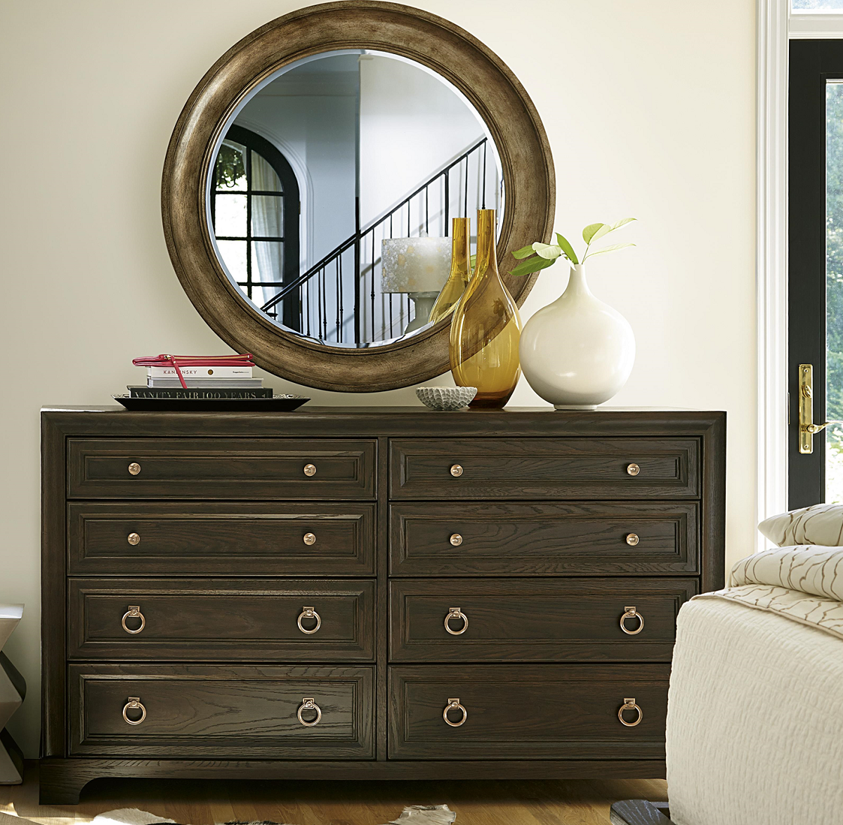 California Rustic Oak 8 Drawer Dresser Furniture 8 Drawer